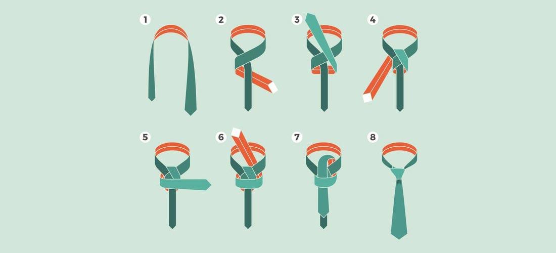 Der Einfache Windsor-Knoten für ein Bewerbungsfoto