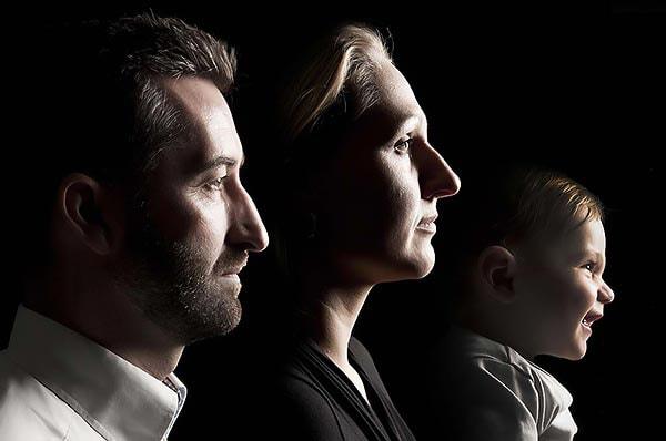 Familienfoto Portrait