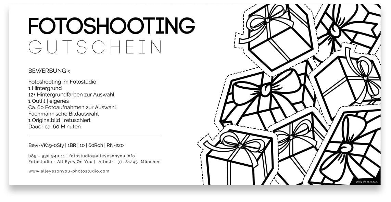 Gutschein für ein Fotoshooting in München